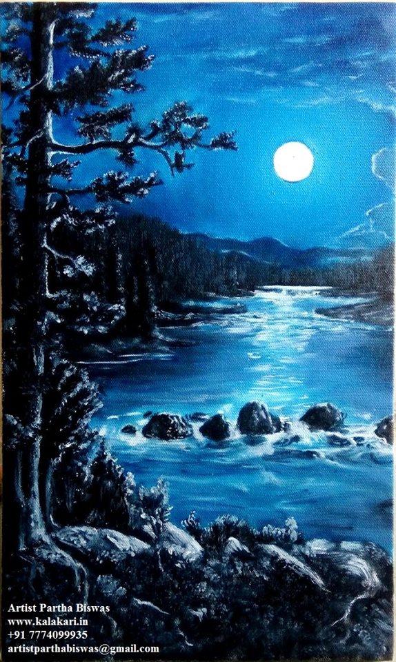 Handmade painting oil medium