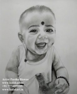 Child pencil sketch