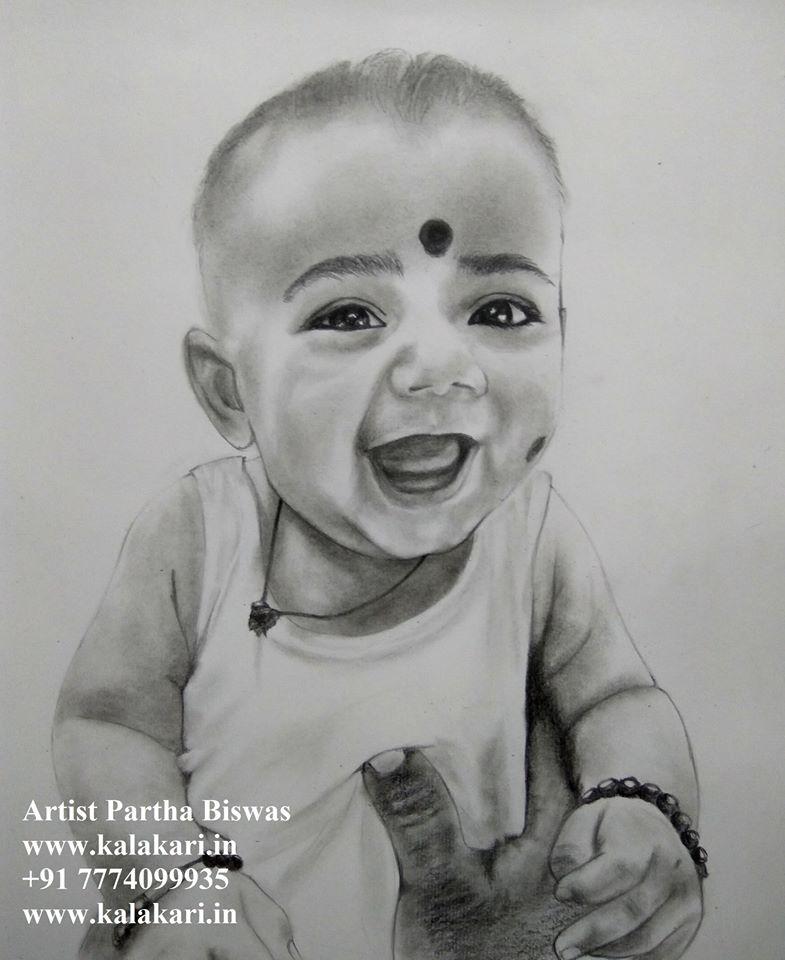 Child pencil sketch
