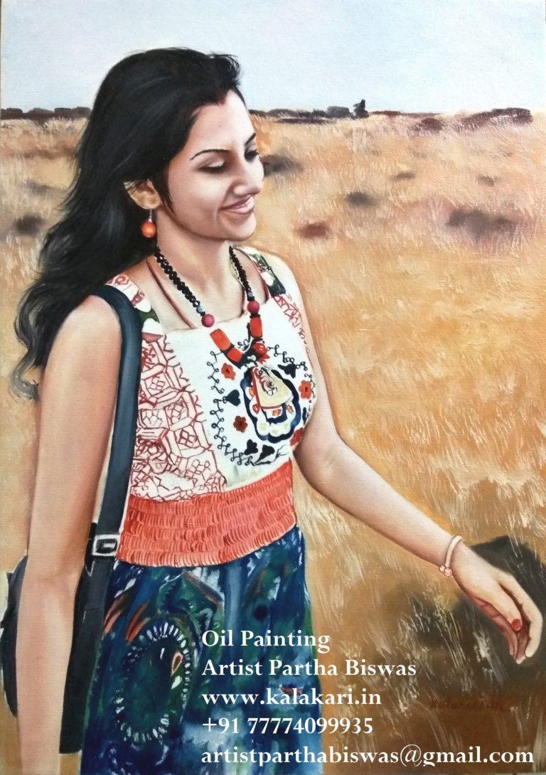 Women oil painting