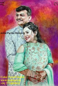 handmade portrait painting from photograph