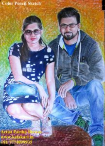 hand drawn pencil color sketch. photo to pencil color sketch. turn photo to colored pencil drawing | best portrait artist in india
