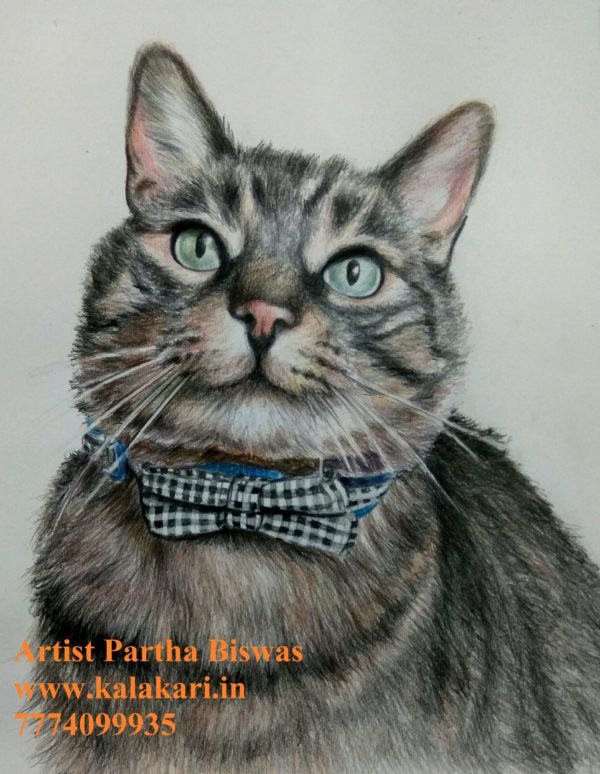 pet portrait painting from picture