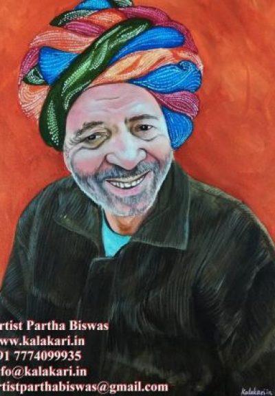 portrait paint on canvas