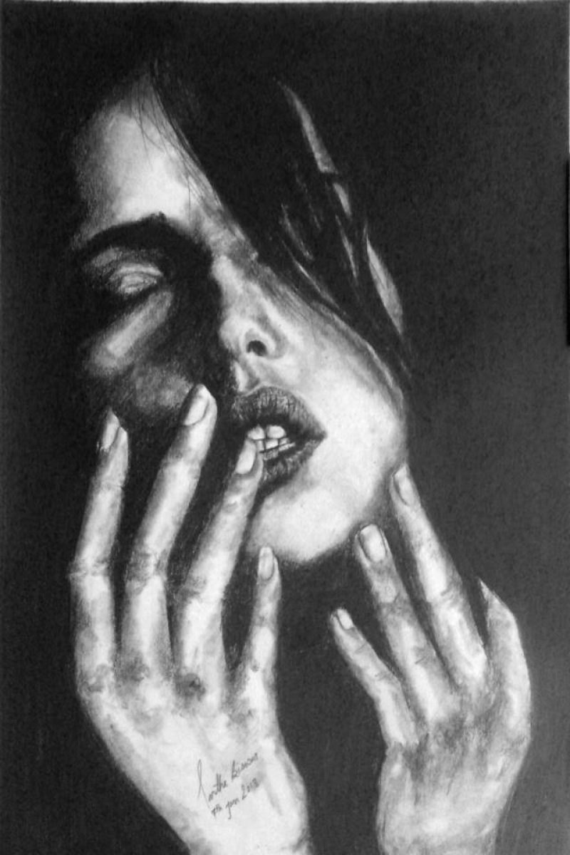 Charcoal Sketch a feel and emotion