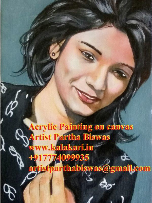 Acrylic portrait on canvas